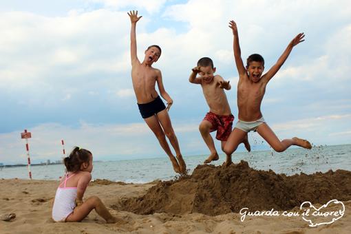 salti sulla sabbia