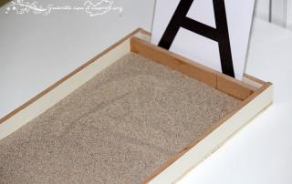lavagna di sabbia montessori