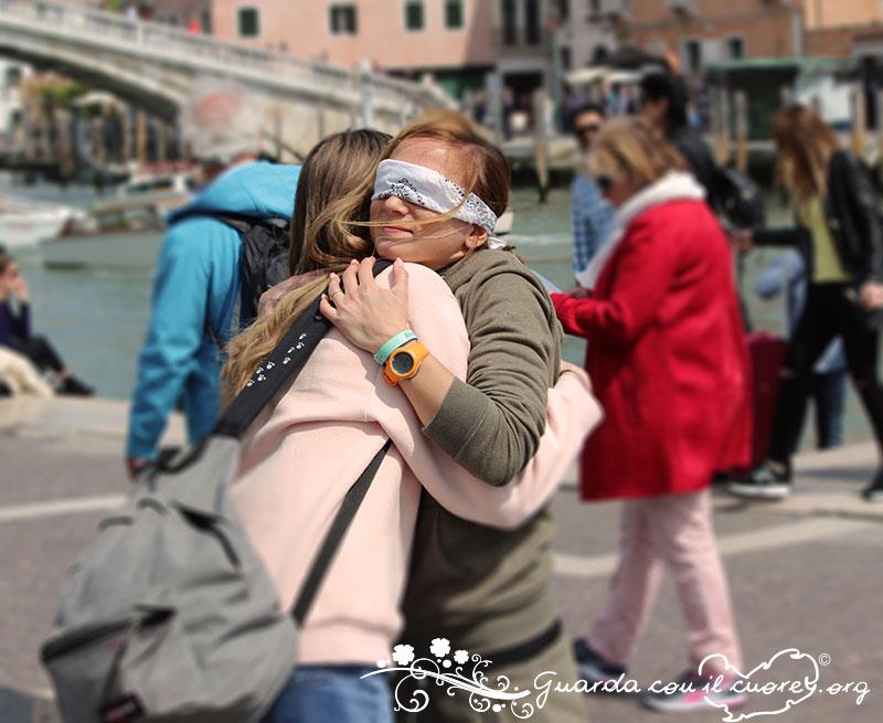 blind hug