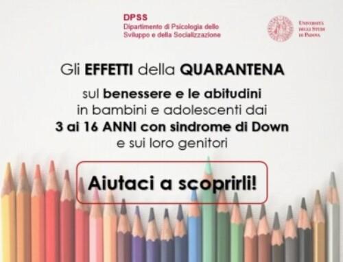 Progetto emergenza Covid-19 su bambini con sindrome di Down