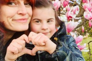 io e la mia bimba con sindrome di down